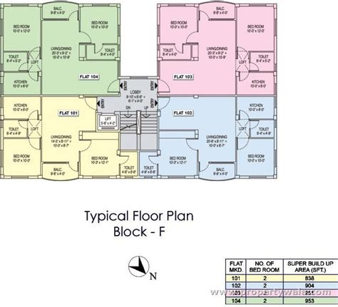 typical floor plan fortune city madhyam gram kolkata apartment flat