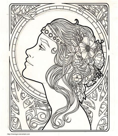 Art Nouveau Coloring Page Coloring Home Nouveau Coloring Pages