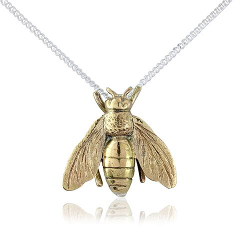 honey necklace honey bee pendant necklace by argent of
