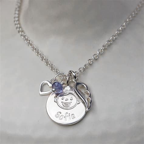 personalised silver new charm necklace indivijewels