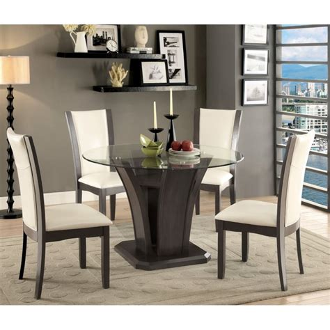 furniture of america dining table furniture of america henxley dining table in gray