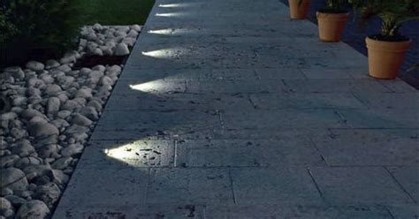 in ground pathway lights recessed in ground lighting suddenly turns this pathway