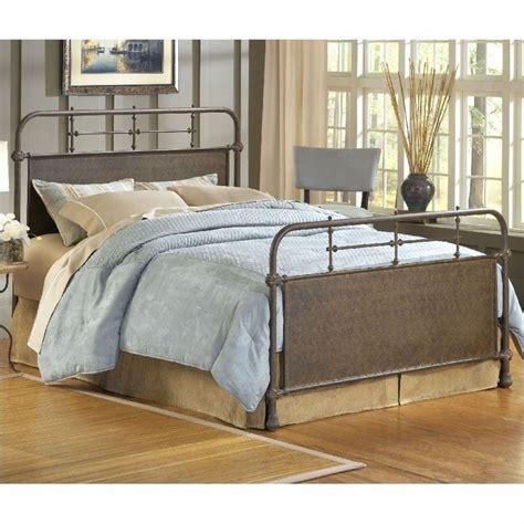 rust bed hillsdale kensington metal bed in old rust 1502bxwr
