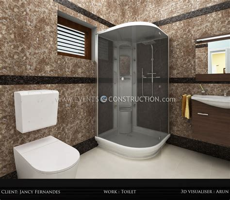 evens construction pvt  bathroom designed  kerala home