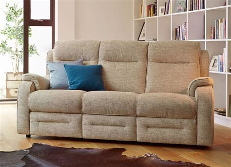 Boston Upholstery by Knoll Boston 3 Seater Power Recliner Sofa Fabric Ranges Hunters Of Derby
