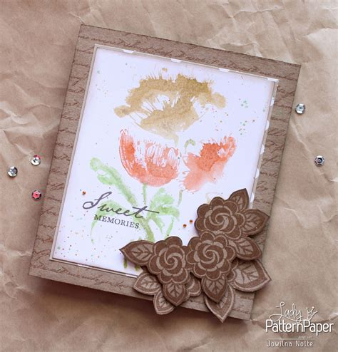 handmade mothers day cards step by step mother s day card sweet memories lady pattern paper
