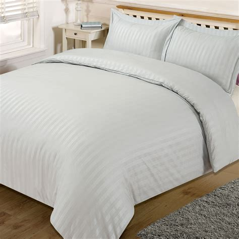 single coverlet satin stripe quilt duvet cover with pillow case bedding