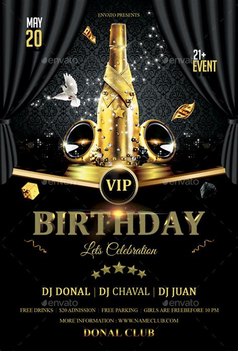 template flyer vip vip birthday flyer by butu85 graphicriver