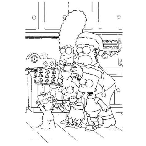imagenes navideñas de los simpson para colorear dibujos de los simpson en navidad para colorear