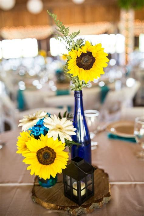 {Turquoise & Sunflowers} Rustic Wedding at Betsy's Barn