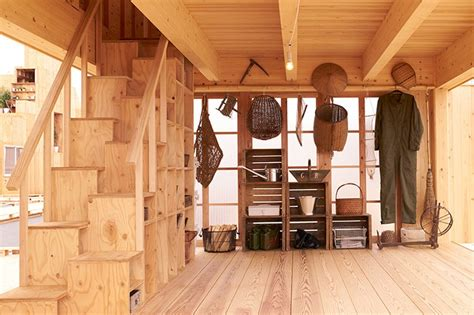 Superb Narrow Terraced House Design #7: Muji-×-atelier-bow-wow-house-vision-tokyo-tanada-terrace-office-designboom-02-818x545.jpg