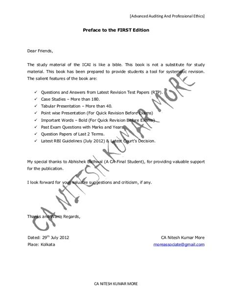 Articleship Transfer Letter Format Ca Advanced Auditing And Professional Ethics 2