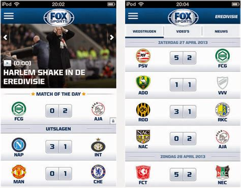 fox sports app for android fox sports app voor android iphone en tv apps