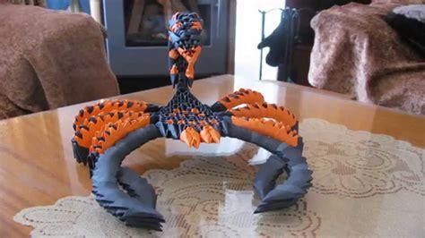 3d Origami Scorpion - 3d origami scorpion avi