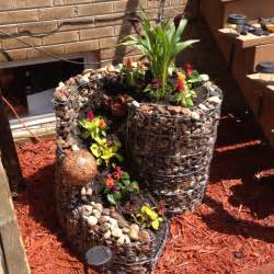 Homemade Flower Pots Ideas homemade rock flower pot outside gardening ideas and
