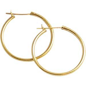 14kt gold earrings 14kt yellow gold hoop earrings sold on ruby