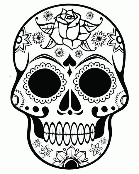 sugar skull template sugar skull coloring page coloring home