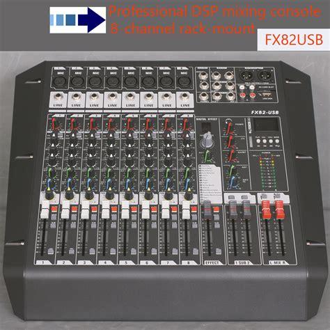 Mixer Audio Recording 8 channel mixer audio fx82usb rack mount studio mixer console recording studio equipments mini