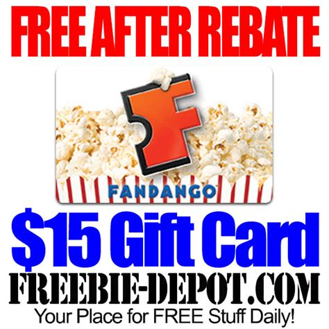 What Is A Fandango Gift Card - free after rebate 15 fandango movie gift card free movies limited time offer