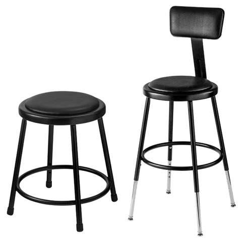 Science Tables And Stools by All Black Padded Science Lab Stools By National