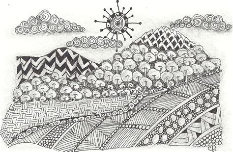 Best Ipad Home Design App 2015 zentangle inspired abstract landscape drawing by ceil