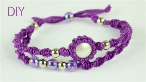 Macrame Double Bracelet   Tutorial   YouTube