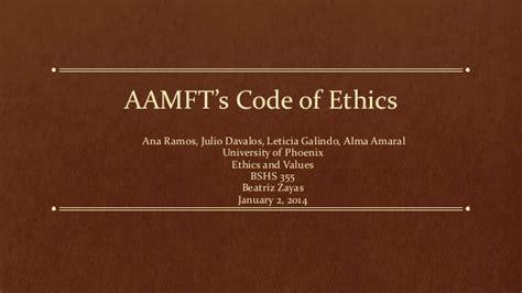 aamft s code of ethics