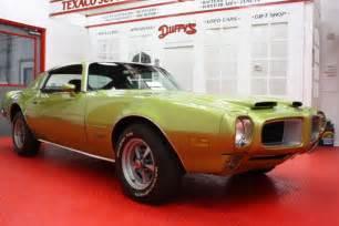 Where Are Pontiac Cars Made 1971 Pontiac Firebird Formula 455 One Of Only 350 Built