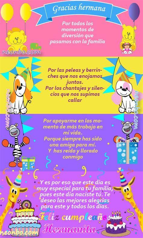 imagenes muy bonitas de feliz cumpleaños 25 best ideas about tarjetas cumplea 241 os hermana on