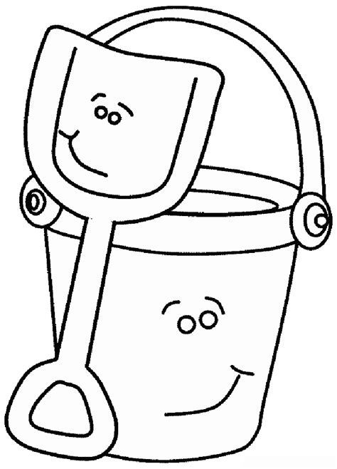 sand bucket and shovel coloring page coloring pages