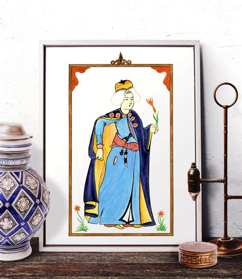 ottoman miniature home decor turkish miniature watercolor