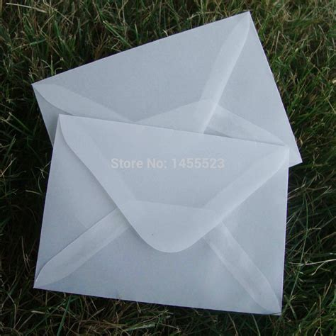 How To Make Translucent Paper - 20pcs lot 110x80mm translucent parchment paper envelope