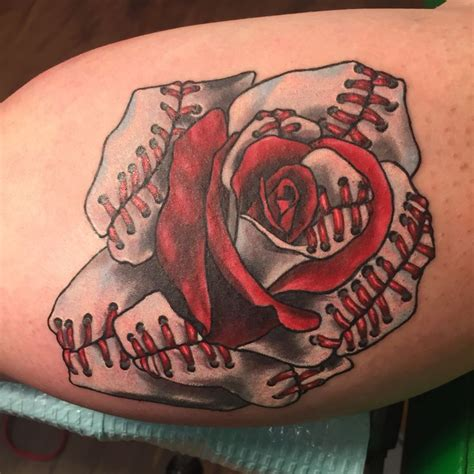 baseball rose tattoo 17 best ideas about baseball tattoos on