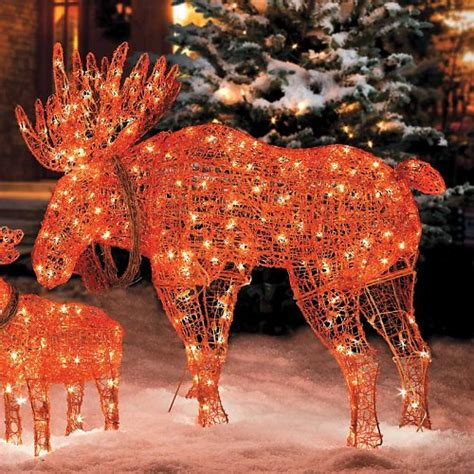 Moose Yard Decorations by Lighted Wireframe Moose Decoration Improvements