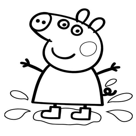 imagenes para pintar de peppa pig peppa pig para colorear comiendo con los amigos dibujos
