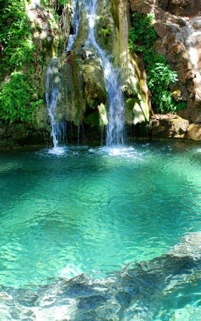 waterfall island waterfalls of fonissa in kythera island ionian greece