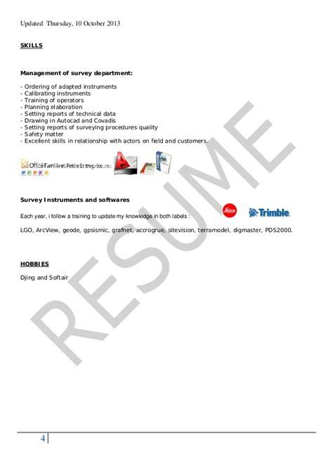 sle cv for quantity surveyor quantity surveyor cv sle pdf images certificate