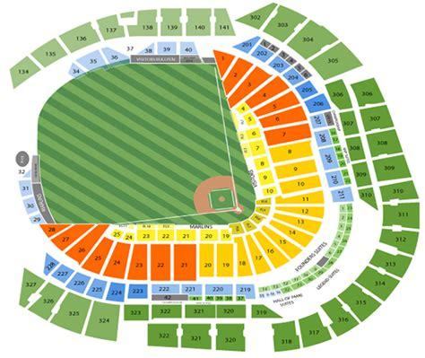seating chart miami marlins miami marlins seating chart marlins seat chart view