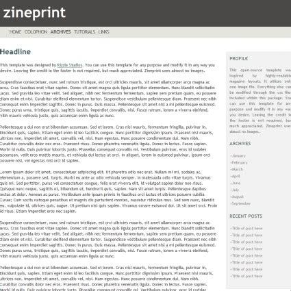printable zine template zine print template free website templates in css html