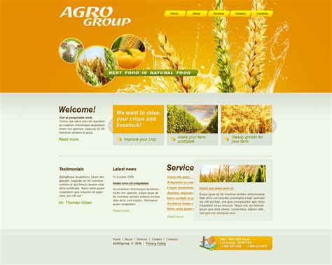 agriculture themes html agriculture website template 28392