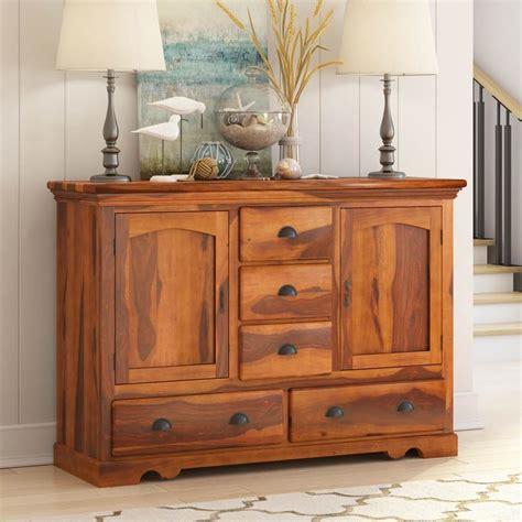 burlington rustic solid wood  drawer dining large
