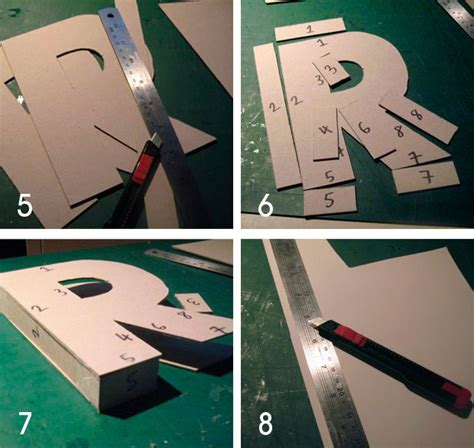 diy letters cardboard letters paper cover and 3d