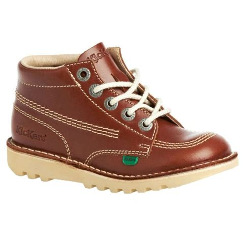 Sepatu Kickers Boots Leather 1 kickers kickers kick hi youth leather dk a5 1 12650 boots kickers from brands