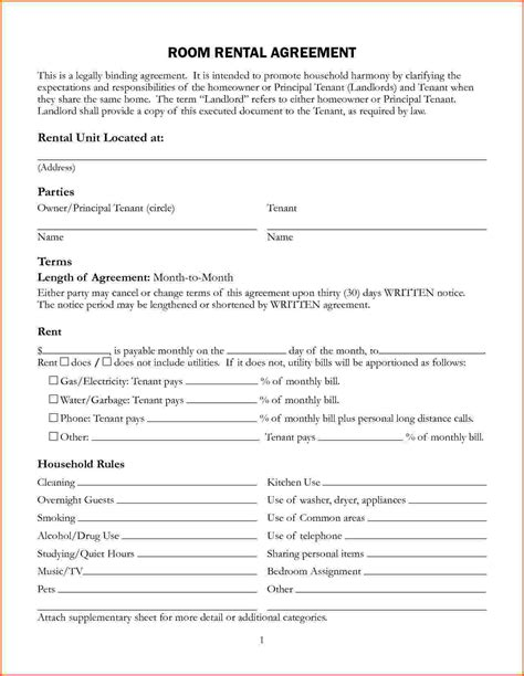 Agreement Letter For House Rental House Rental Agreement Images
