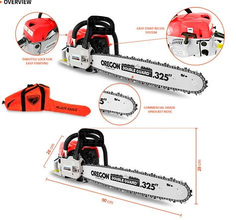 black eagle cc commercial petrol chainsaw  start
