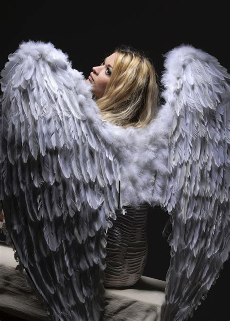 extra large feather extra large angel white feather wings