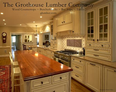 grothouse cherry wood countertop island top