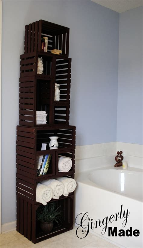 cheap bathroom storage ideas wood crate linen cabinet favething com