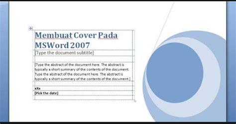cara membuat cover makalah di ms word 2007 cara membuat cover makalah yang benar belajar microsoft