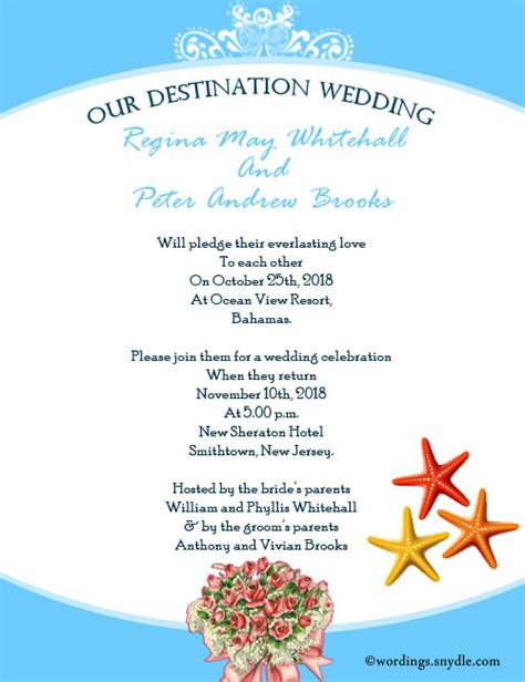 Wording Destination Wedding Invitations by Destination Wedding Invitation Wording Sles Wordings